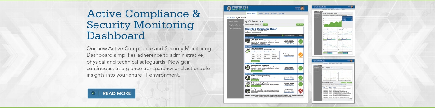 Active Compliance & Security Monitoring Dashboard